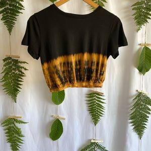 Tie Dye Flame Crop Top